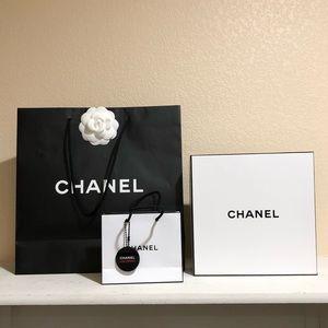 Chanel Shopping Bags + Box
